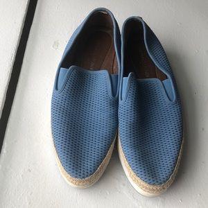 Donald J Pliner sky blue loafers 8